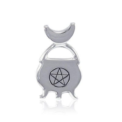 Cook up some magick in the witches cauldron ~ Sterling Silver Jewelry Pendant TP3279