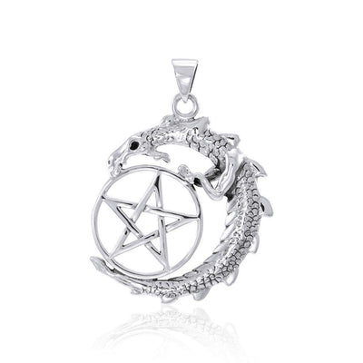 Dragon and The Star Silver Pendant TP3294