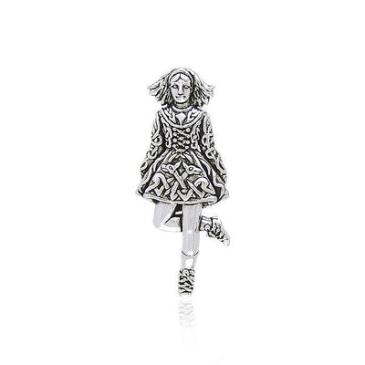 Irish Dancer Silver Pendant TP3426