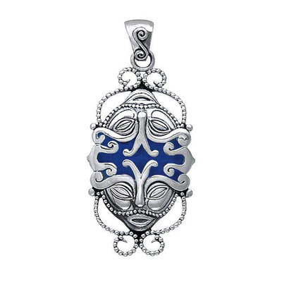 Janus God Silver Pendant with Enamel TP3455