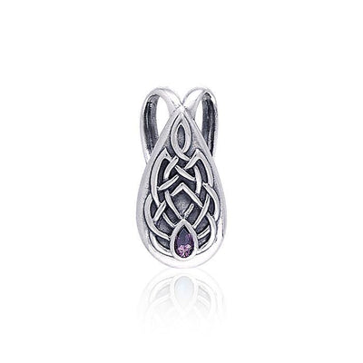 Celtic Knotwork Silver Slider Pendant TP3594