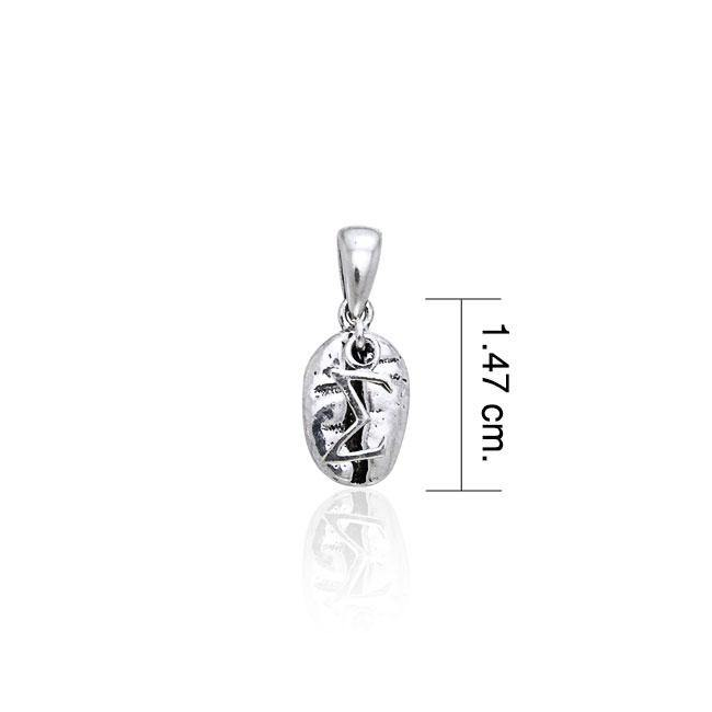 Sigma Sign on Coffee Bean Silver Pendant TP406 Pendant