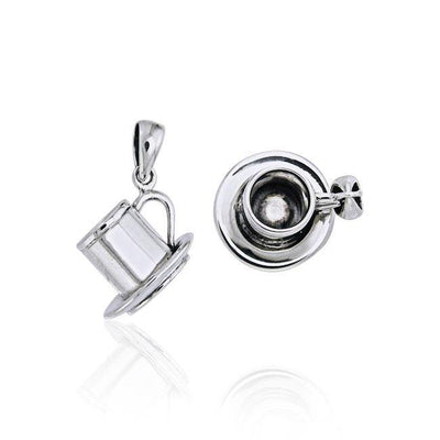 Coffee Cup Set Silver Pendant TP448