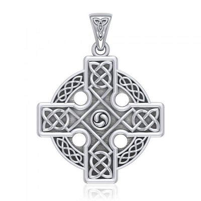 Celtic Cross Triskele Pendant TP477