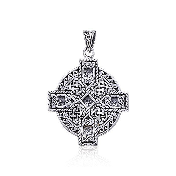 Celtic Cross Spiral Pendant TP478