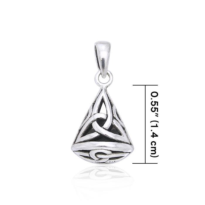 Inner peace from qithin ~ Celtic Knotwork Triquetra Sterling Silver Pendant Jewelry TP543