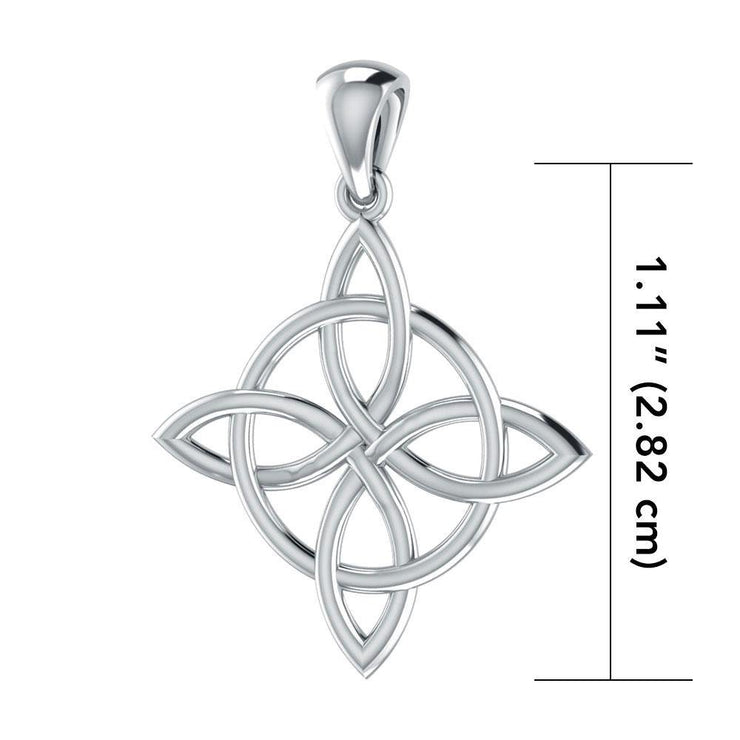 Live in the elements of four ~ Celtic Four-Point Sterling Silver Jewelry Pendant TP554