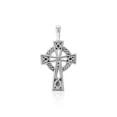 Celtic Knotwork Cross Silver Pendant TP630 Pendant