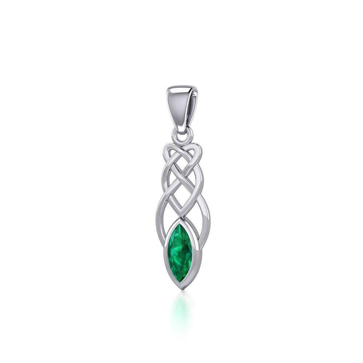 Contemporary Celtic Knotwork Silver Pendant TP857