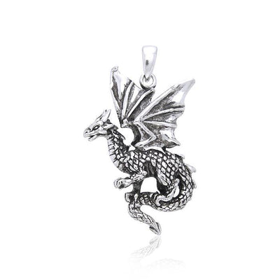 Welcome the world of the Fantasy Dragon ~ Sterling Silver Jewelry Pendant TP940 Pendant