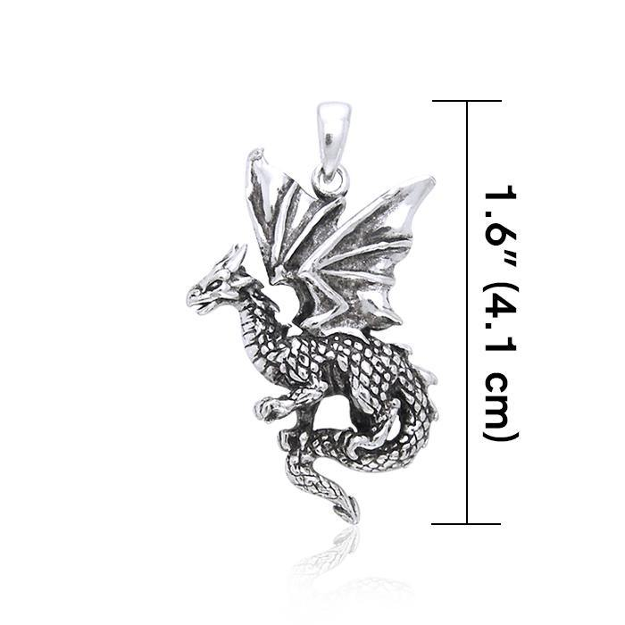 Welcome the world of the Fantasy Dragon ~ Sterling Silver Jewelry Pendant TP940