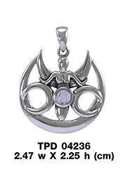 Triple Moon Goddess Pendant TPD4236