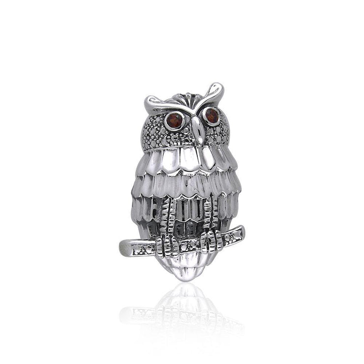 Capture the spirit of the intriguing Owl ~ Sterling Silver Pendant Jewelry	  TPD053 Pendant