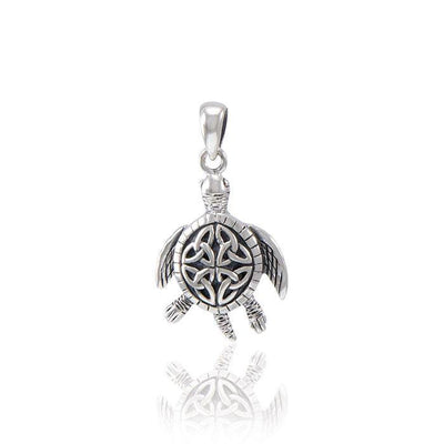 Celtic Sea Turtle Pendant TPD082