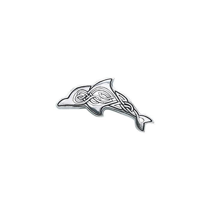 Celtic Dolphin Silver Pendant TPD1030