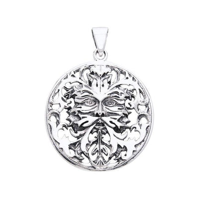 Nature's perfect match ~ Sterling Silver Oberon Zell Green Man Pendant Jewelry TPD1040 Pendant