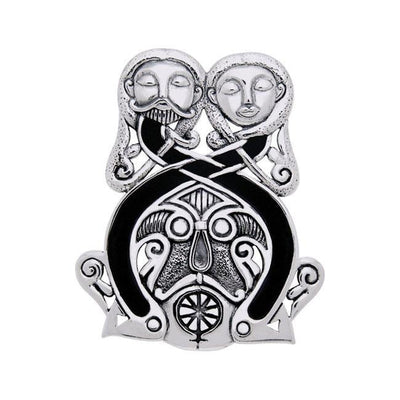 An upstanding impression to last ~ Viking Borre Courtship Sterling Silver Pendant TPD1138