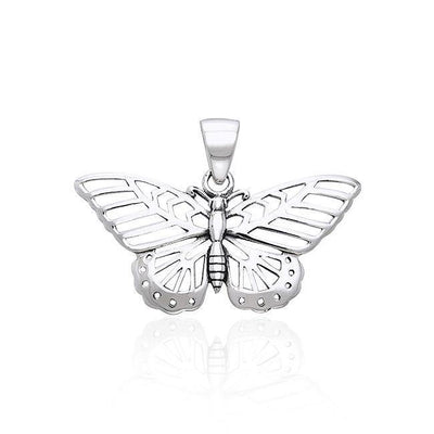 Silver Butterfly Pendant TPD1151