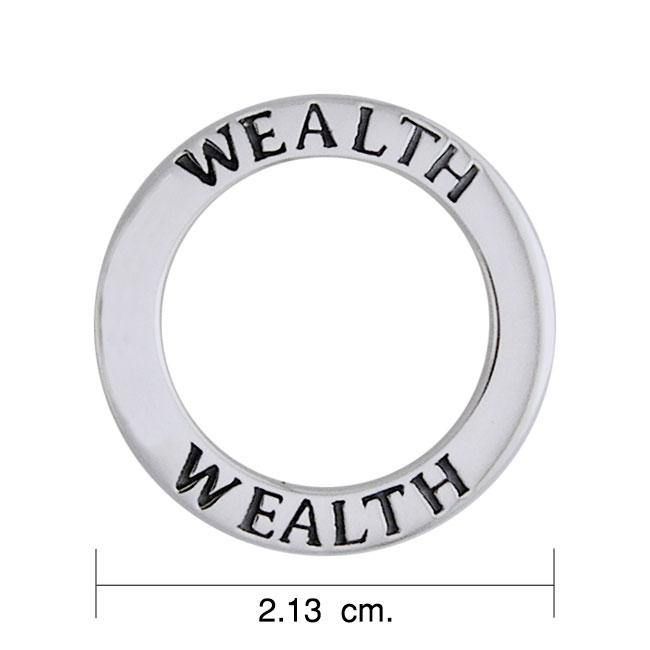 Wealth Sterling Silver Ring Pendant TPD1163
