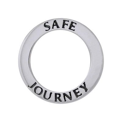 Safe Journey Silver Ring Pendant TPD1165