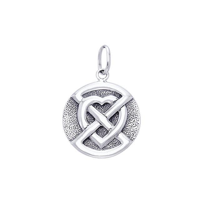 Buried Heart Sterling Silver Pendant TPD1194 Pendant