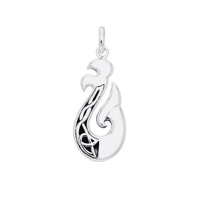 The delicate art of strength ~ Sterling Silver Viking Urnes Pendant Jewelry TPD1207 Pendant