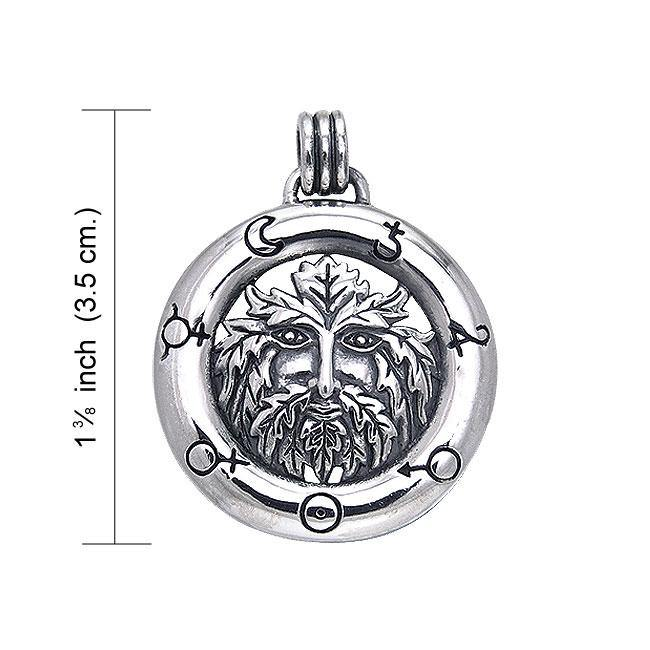 Symbol of earth ~ Green Man Sterling Silver Pendant Jewelry TPD122 Pendant