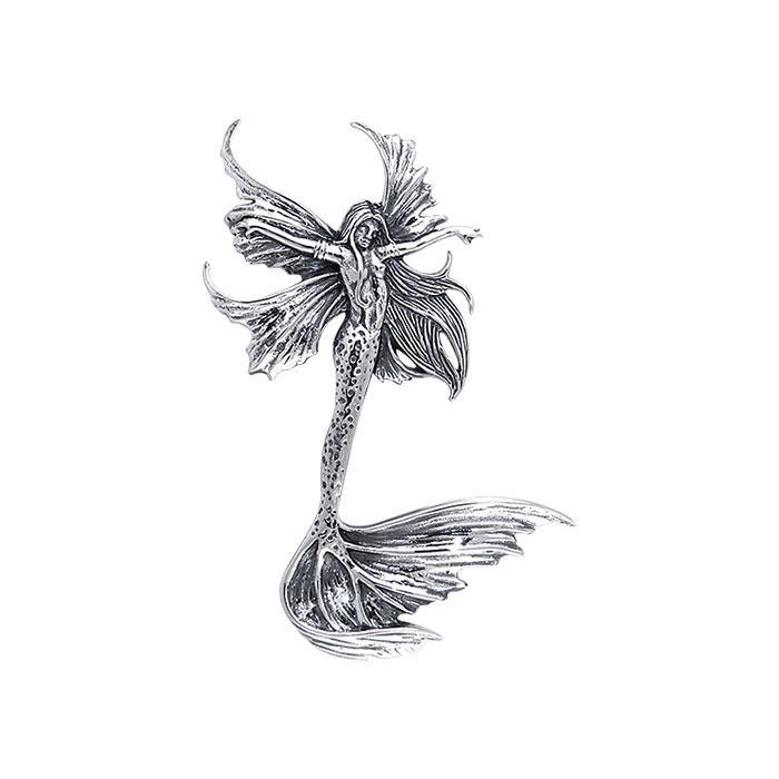 Amy Brown Sea Sprite Fairy ~ Sterling Silver Jewelry Pendant TPD136