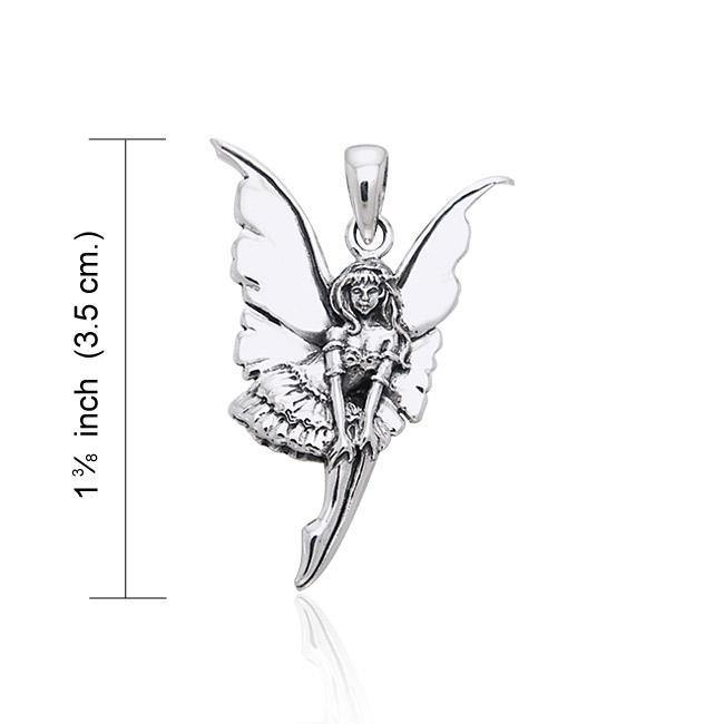 Amy Brown Dainty Fairy ~ Sterling Silver Jewelry Pendant TPD1648