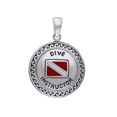 Silver Dive Instructor Silver Pendant TPD218
