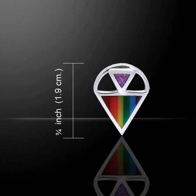 Rainbow Triangle Silver Pendant TPD222