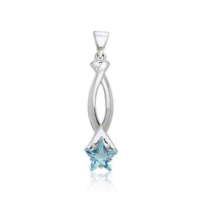 Designer Elegant Star Pendant with Gem TPD2283