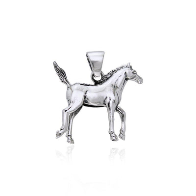 Horse Sterling Silver Pendant TPD2287