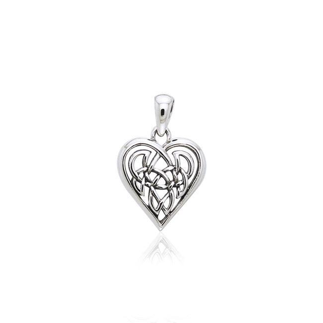 Celtic Knot Heart Sterling Silver Pendant TPD2332