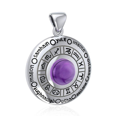 Wheel of the Year Silver Pendant TPD235