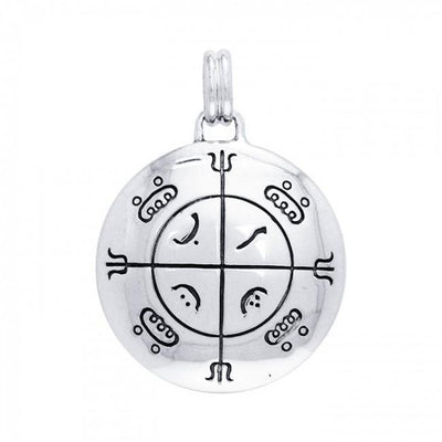 Mohammedan Magic Circle Solomon Seal Pendant TPD2863