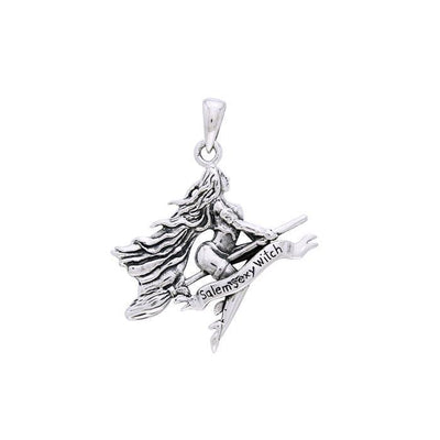 Salem Sexy Witch Silver Pendant TPD2927