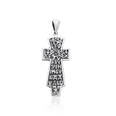 Cross with Words Silver Pendant TPD2998