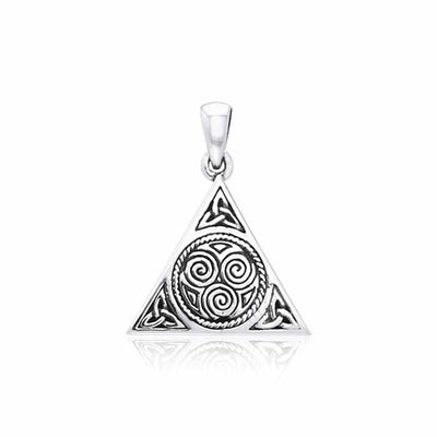 Celtic Trinity Knot Triskelion Triangle Pendant TPD3016