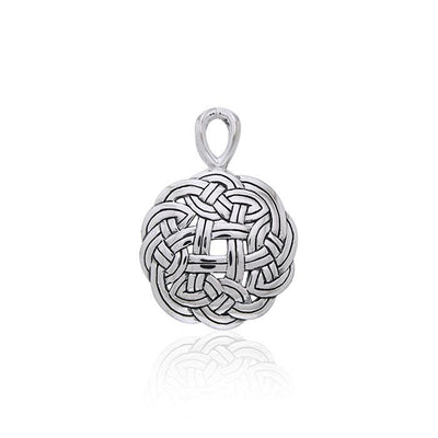 Celtic Shield Knot Sterling Silver Pendant TPD3021