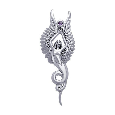 Captured by the Grace of the Angel Phoenix TPD3266 Pendant