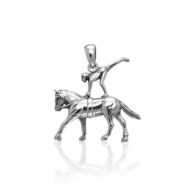 Equestrian Vaulting Silver Pendant TPD3272