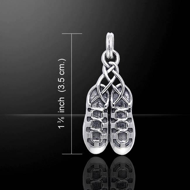 Irish Dancing Shoes Silver Pendant TPD351