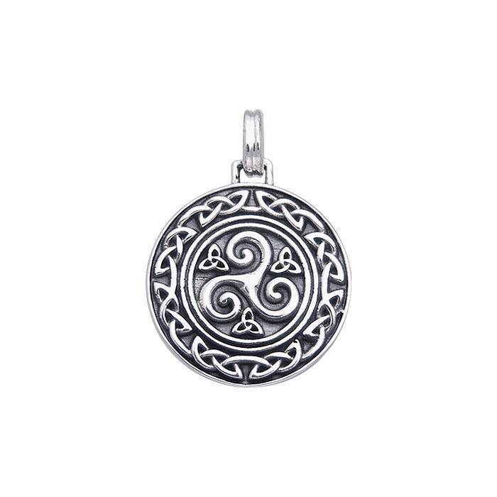 Celtic Silver Spiral Pendant TPD370