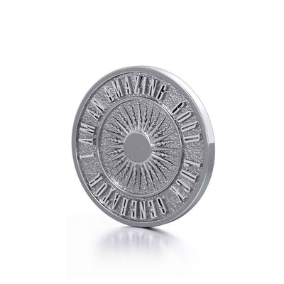 Beautiful I am an Amazing Good Luck Generator Silver Small Empower Coin TPD3728