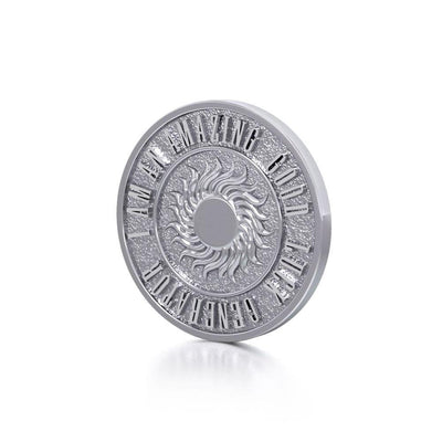 Wonderful I am an Amazing Good Luck Generator Silver Small Empower Coin TPD3729 Pendant