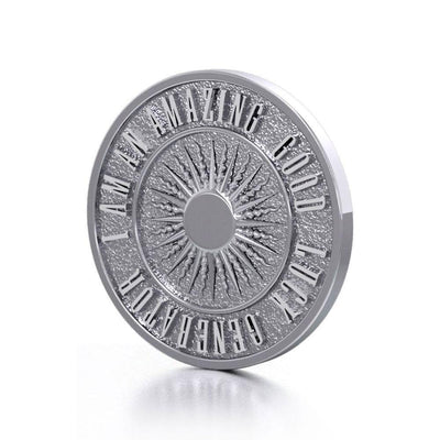 Beautiful I am an Amazing Good Luck Generator Silver Large Empower Coin TPD3732 Pendant