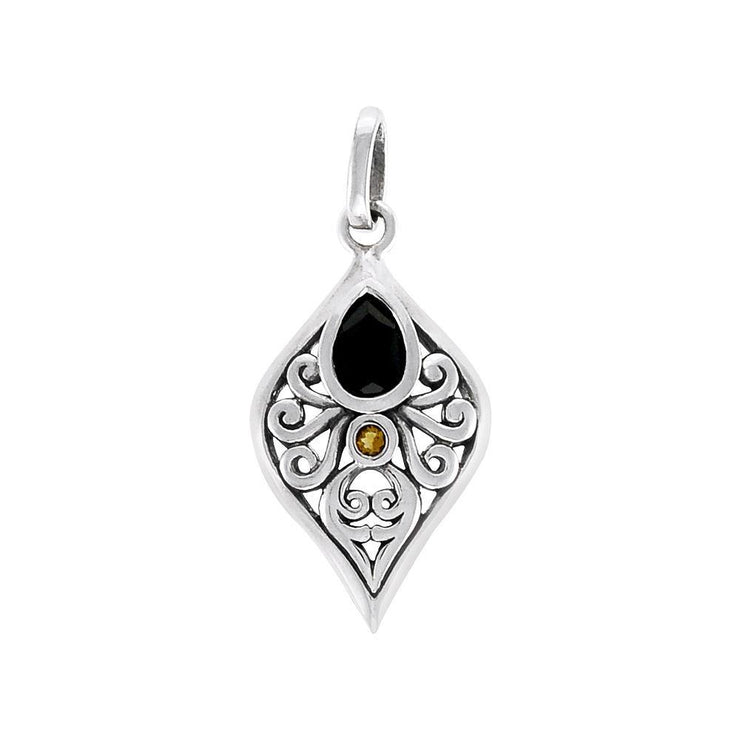 Filigree Pendant with Gemstone TPD3799