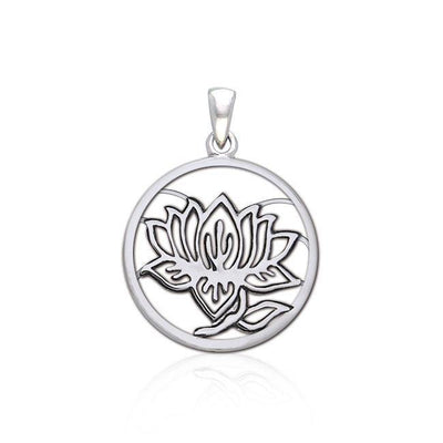 Hollow Lotus Silver Pendant TPD3847
