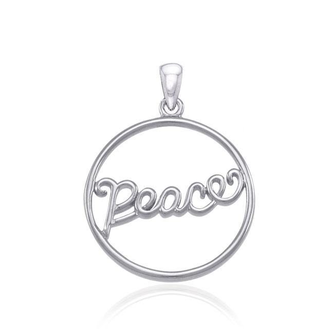 Peace Silver Pendant By Amy Zerner TPD3945